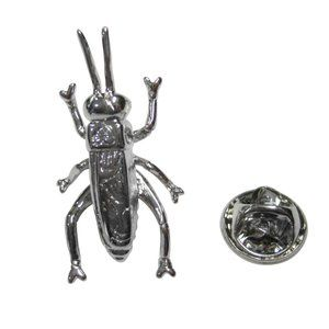 Silver Toned Cricket Bug Insect Lapel Pin